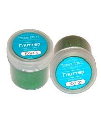 Глиттер сухой  зеленый в баночке  от Фабрики Декора