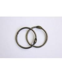 Кольца для альбомов серебро состаренное 20 мм ( пара)