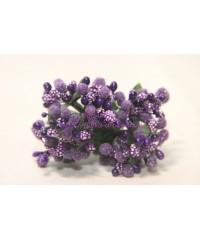 Букетик сложных тычинок, темно-фиолетовый