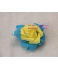Роза 106 желто-синяя