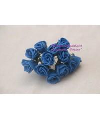 Букет роз 1,5 см синий