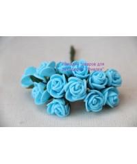 Букет роз 1,5 см  голубой