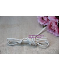 Шнур замшевый белый     1 метр