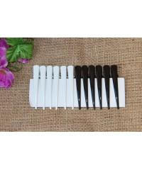 Заколка уточка 7,5 см черно-белый набор