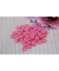 Мини пуговки розовые ,  6 мм