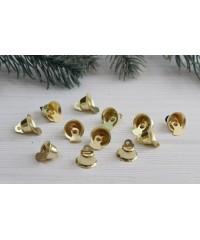 Колокольчики мини , золото 12 мм             1 шт