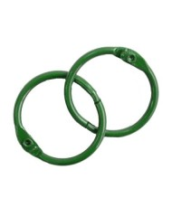 Кольца для альбомов  35 мм зеленые (пара)