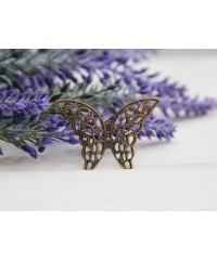 Бабочка металлическая , коннектор    1 шт