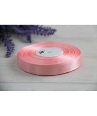 Лента атласная 1,2 см  ,   персиково - розовый      РУЛОН
