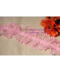 Кружево на резинке   розовое