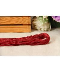 Шнур люрексовый    ,  красный      1      метр