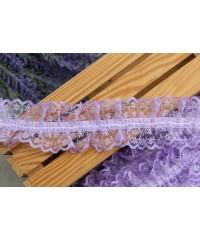 Кружево на резинке ,  св - фиолетовое       1 метр